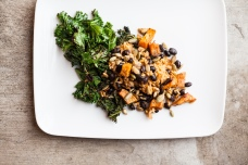 Grilled Kale Hoppin' John, Plant Powered lunch!
